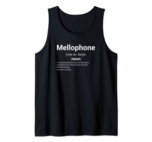 Mellophone Definition | Marching Band Music Musician Gift Tank Top