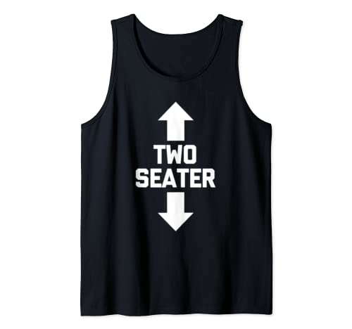 Mens Two Seater T Shirt Funny Saying Novelty Funny Shirt For Men Tank Top