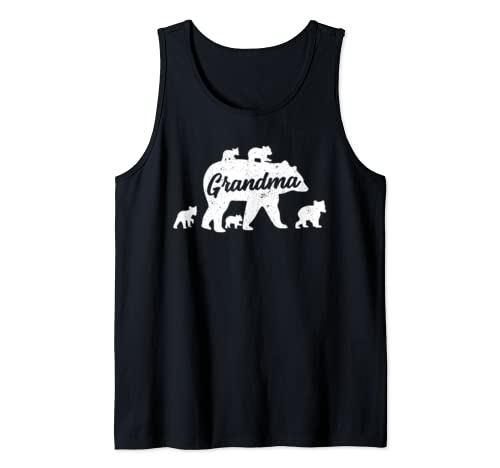 Vintage Grandma Bear With 5 Cub Mother's Day Tank Top
