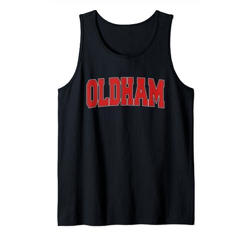 Oldham United Kingdom Varsity Style Vintage Retro Uk Sports Tank Top