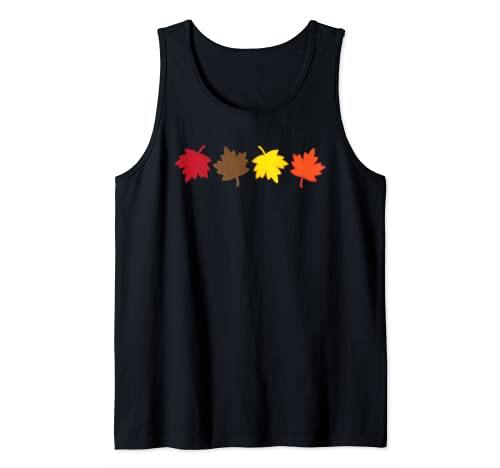 Fall Autumn Colored Leaves Celebrate Cool Weather Tank Top