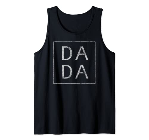 Distressed Dada Funny Retro Father's Day Tank Top