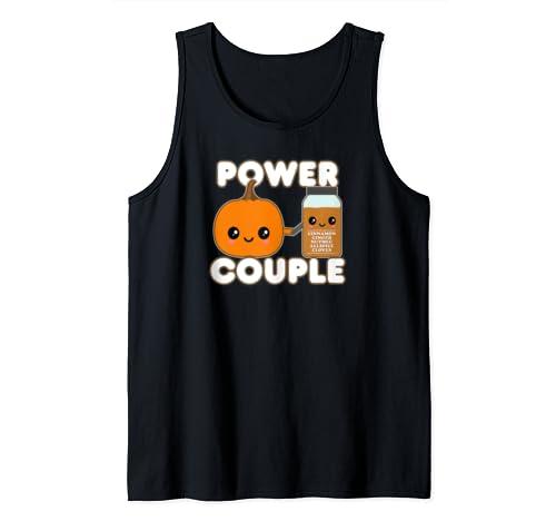 Cute Kawaii Style Psl Pumpkin Spice Power Couple Tank Top
