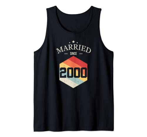 Married since 2000 T-Shirt Valentines Day Couple shirt Tank Top