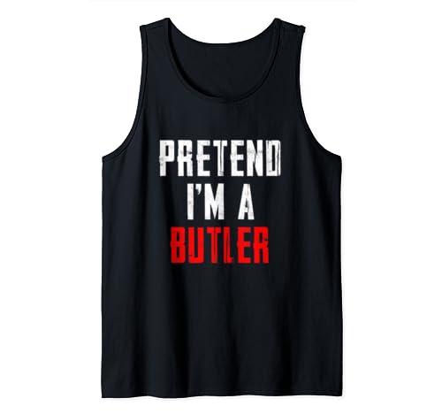Pretend I'm A Butler T Shirt Halloween Costume Tank Top
