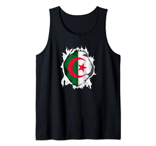 Algeria Gifts Love Algerian Flag Tank Top