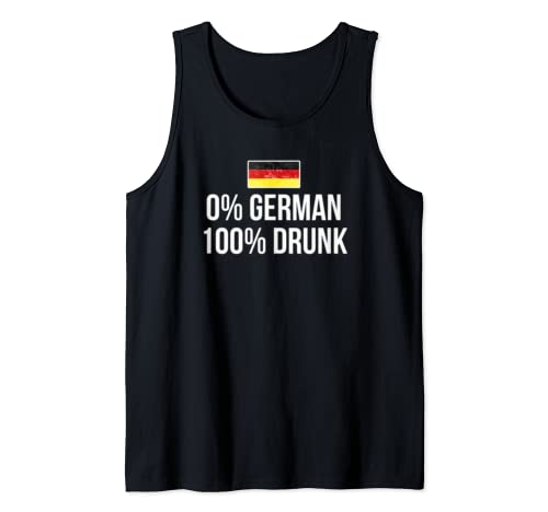 0% German 100% Drunk Oktoberfest Beer Garden Party Tank Top