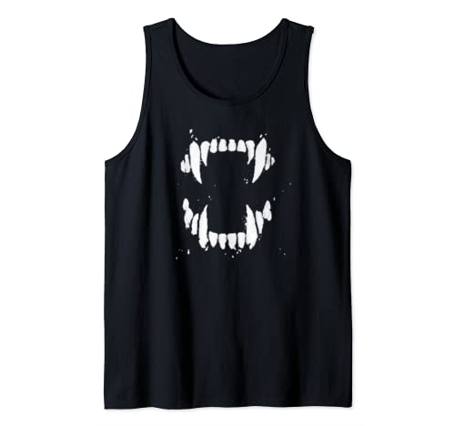 Scary Halloween Vampire Fang Teeth Horror Gift Tank Top