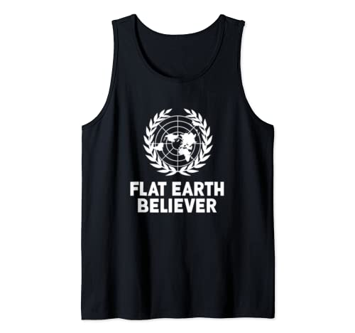 Flat Earth Shirt - Flat Earth Believer Tank Top