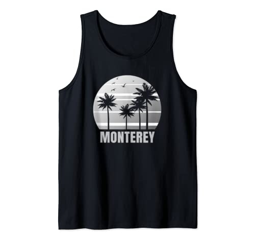 Monterey Beach California Vacation Souvenir Tank Top