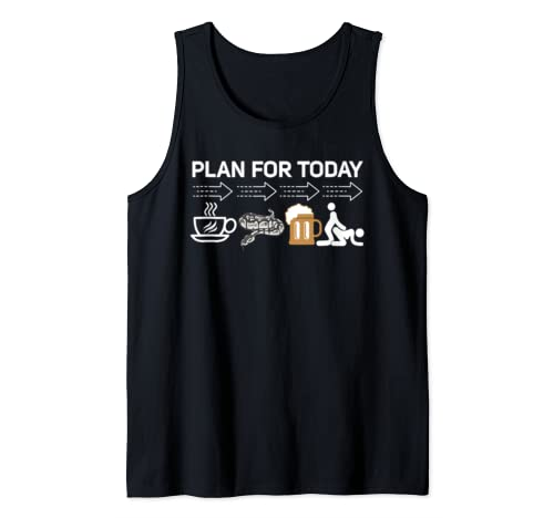 Plan For Today Ball Python Coffee, Beer Fuck Halloween Gift  Tank Top