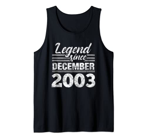 Legend Since December 2003   16 Year Old Gift 16th Birthday Tank Top