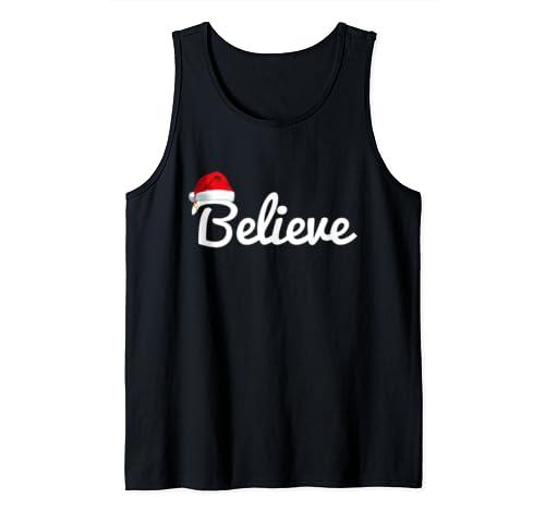Believe Christmas   Santa Claus Christmas Tank Top