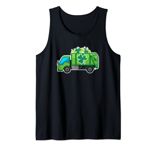 Clover Truck St Patrick's Day Green Shamrock Holiday Gift Tank Top