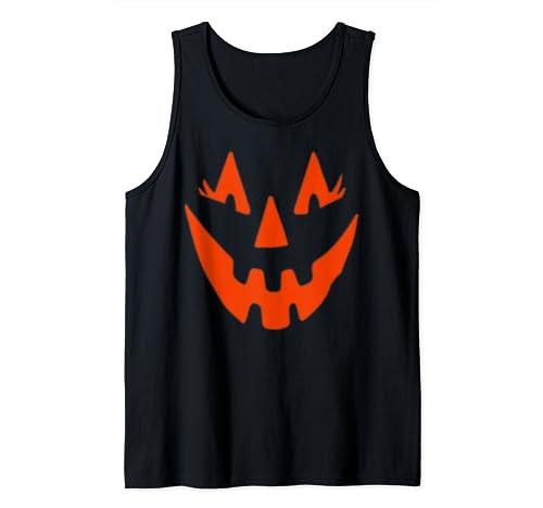 Pumpkin Halloween Smile Funny Tank Top