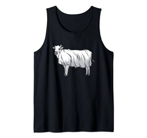 Cow Ghost | Milk Cow Girl Dairy Farmer Butcher Halloween Tank Top