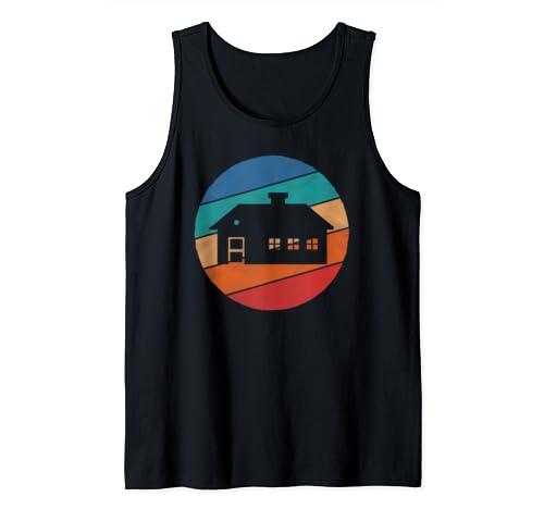 Cabin Lover Hobby Shirt Vintage Retro Design 80s Lover Gift Tank Top