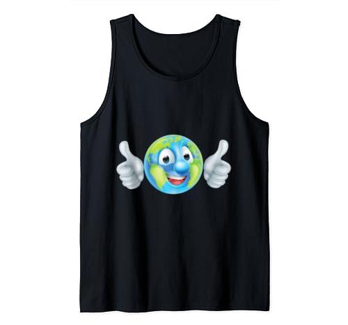 Earth Day Cartoon Character Tank Top