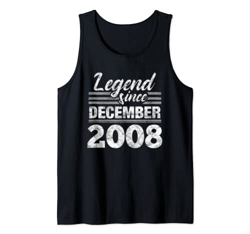 Legend Since December 2008   11 Year Old Gift 11th Birthday Tank Top