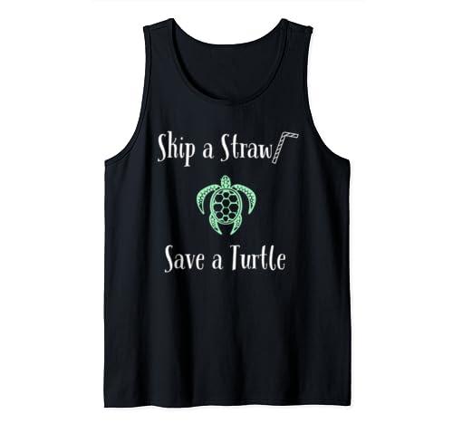 Skip A Straw Save A Turtle Tank Top