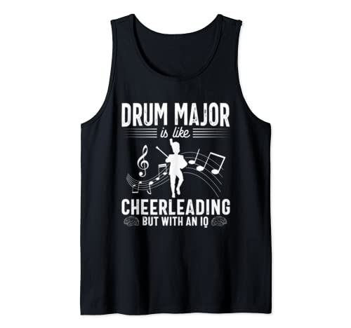 Drum Major Mom Funny Cheerleading Marching Band Parents Gift Tank Top