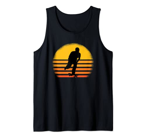 Skateboard Skateboarding On Retro Vintage Sunset Gift Idea Tank Top