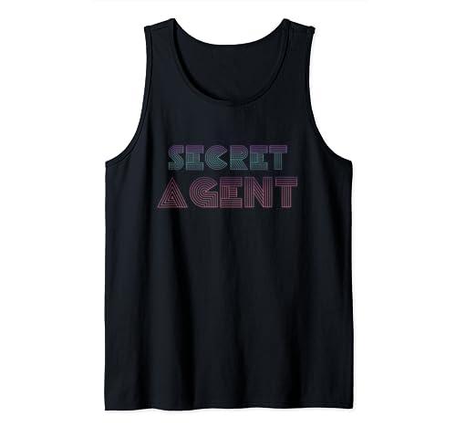 Vaporwave Secret Agent Costume Spy Inspector Halloween Tank Top