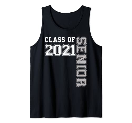 Class Of 2021 Senior 21 ~ Cute High School Graduation Gift  Tank Top