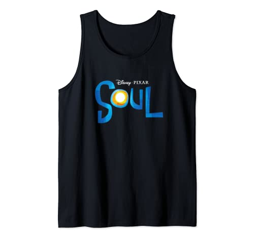 Disney Pixar Soul Movie Logo Black Tank Top