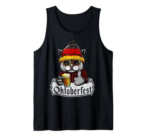 Oktoberfest 2019 Flag Gift   Cat German Beer Tank Top