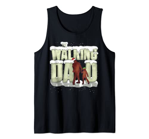 The Walking Dad Funny Cool Father's Christmas Gift Tank Top