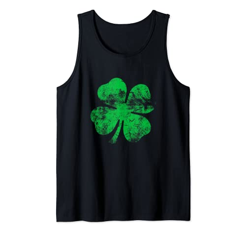 Four Leaf Clover   St Patrick's Day  Tank Top