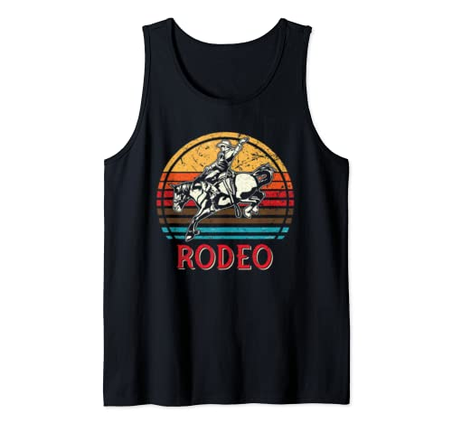 Rodeo Shirt Yeehaw Cowboy Western Country Texas Horse Retro Tank Top