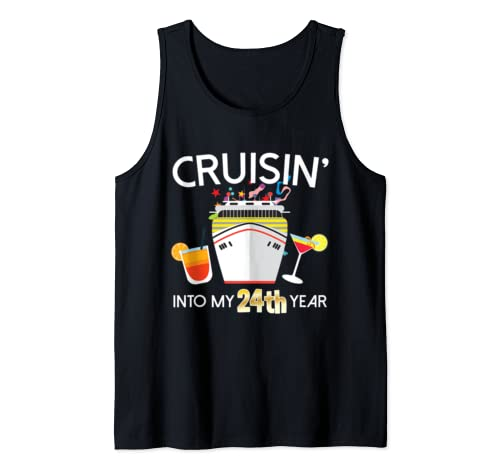 24th Birthday Cruise Ship Tank Top