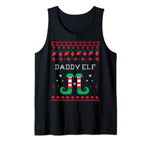 Daddy Elf Matching Family Group Christmas Father's Day Gift Tank Top