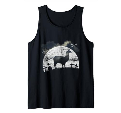 Halloween Llama Tank Top