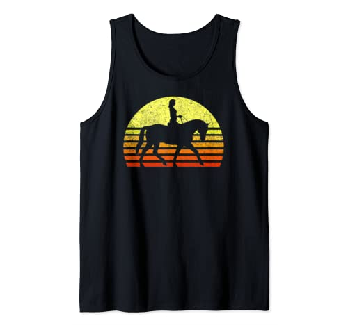 Horse Girl Cute Love Horses Retro Sun Horseback Riding Gift Tank Top