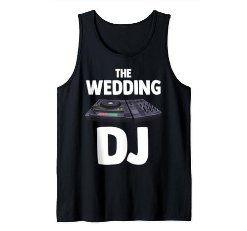 The Wedding Dj Turntable Music Novelity Equalizer Tank Top