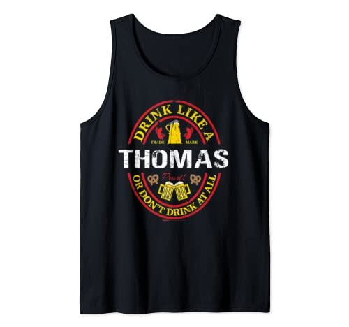 Vintage Drink Like A Thomas Oktoberfest 2019 Drinking Tank Top