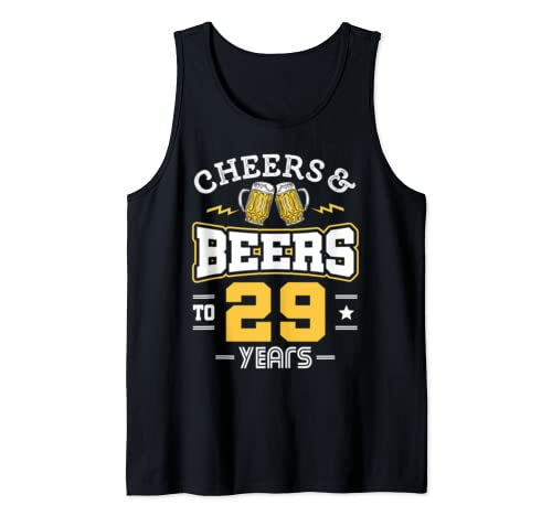 29th Birthday Cheers And Beers To 29 Years Funny Gift Tank Top