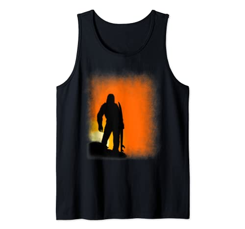 Funny Bigfoot Surfer Sunset Sasquatch Surfing Tee Top Shirt Tank Top