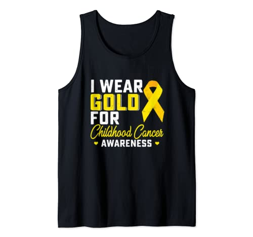I Wear Gold For Childhood Cancer Awareness Gifts Tank Top
