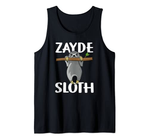 Zayde Sloth Jewish Grandpa Father Lover Father's Day Gift Tank Top