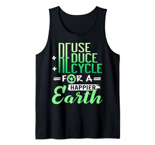 Earth Day Reduce Reuse Recycle Happy Earth Planet T Shirts Tank Top