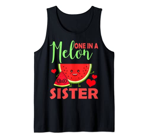 One In A Melon Sister Shirt Funny Watermelon Lover Tank Top