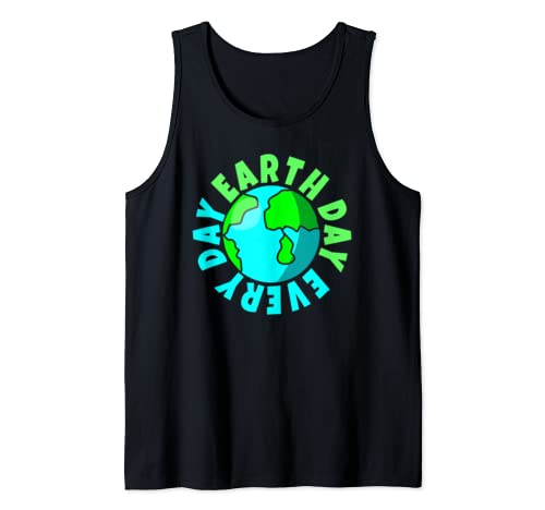 Earth Day Every Day Environmental Awareness Gift Tank Top