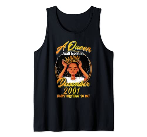 A Queen Was Born December 2001 18th Birthday T Shirt Gifts Tank Top
