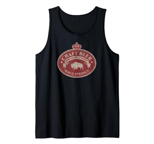 Craft Beer Drinkers Union   Rock Springs Wyoming Tank Top