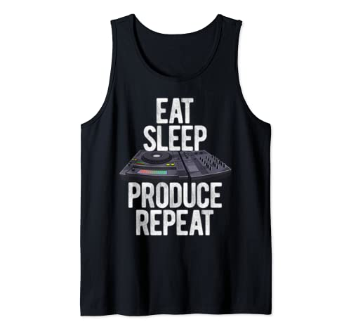 Eat Sleep Produce Repeat Turntable Music Equalizer Tank Top