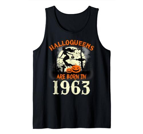 Halloqueens Are Born In 1963 Halloween Birthday Tank Top